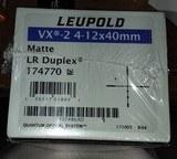 NOS Leupold VX-2 VX-II 4-12x40mm ScopeFACTORY SEALED BOXLR Duplex ReticleMatte