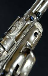 "Colt SAA 2nd Generation .45 Custom Engraved by Carl Bleile, 4 3/4"" bbl. - 7 of 7"