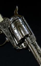 "Colt SAA .44 Special, Custom Engraved by Charlie Baker, 5 1/2"" bbl. - 3 of 7"