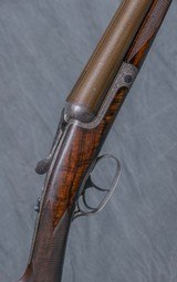 """MacNAUGHTON Bar In Wood Round Action 12 gauge Hammerless Ejector, 28"""" bbls. - 1 of 8"""
