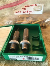.270 Weatherby Brass, 40 pieces, Norma brand, new, unfired, unprimed, with a pair of RCBS 270 Weatherby dies - 1 of 1