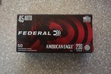 Federal 45acp 230 Grain FMJ Brass Box of (50) Rounds - 1 of 1