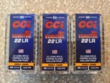 CCI 22 LR Copper Plated Hollow Point 40 Grain Brass Cased - 1 of 1