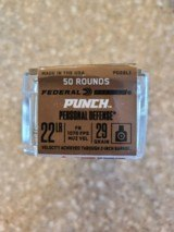 Federal PUNCH 22 LR Flat Nose Personal Defense 29 Grain FMJ - 2 of 2