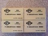 PPU 308 Win 7.62x51mm M80 145 Grain FMJ Brass Cased