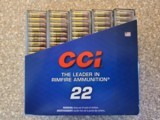 CCI Mini-Mag Varmint 22 LR Copper Plated Hollow Point 36 Grain Brass Cased - 1 of 2