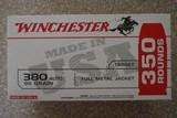 winchester 380 auto 95 grain fmj brass cased