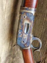 WINCHESTER 1886 TD RB 1/2 MAG.CASE COLORED 45/90 CALIBER TIGER STRIPED WOOD