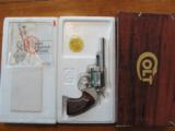 Colt Viper Nickel 38 Revolver 1977 w/Box, Papers, Neat!