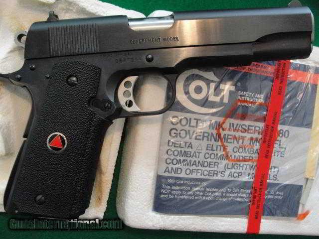 Colt Delta Elite 10mm BLUE LNIB w/3 Mags! California Gun!