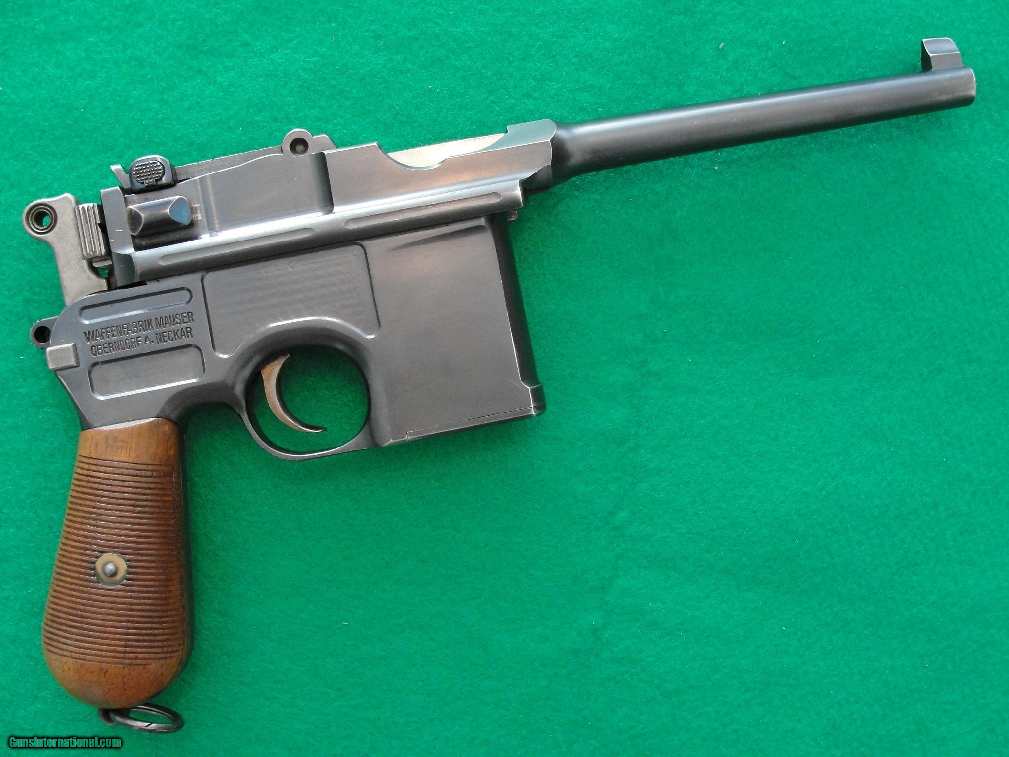 Military Guns For Sale >> Mauser C96 Commercial 1905 Broomhandle
