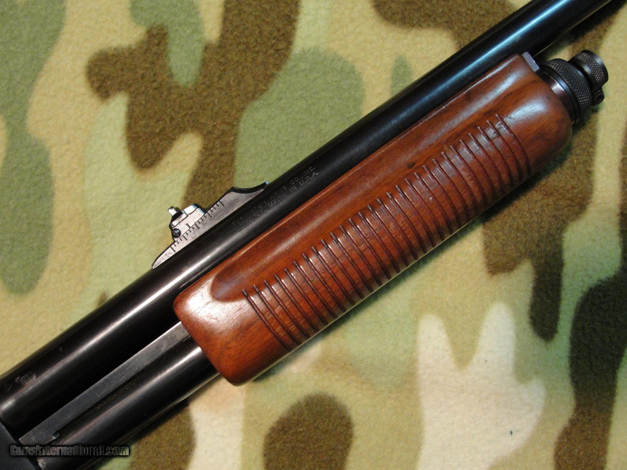 remington 870 wingmaster 12ga with deer barrel rifle sights