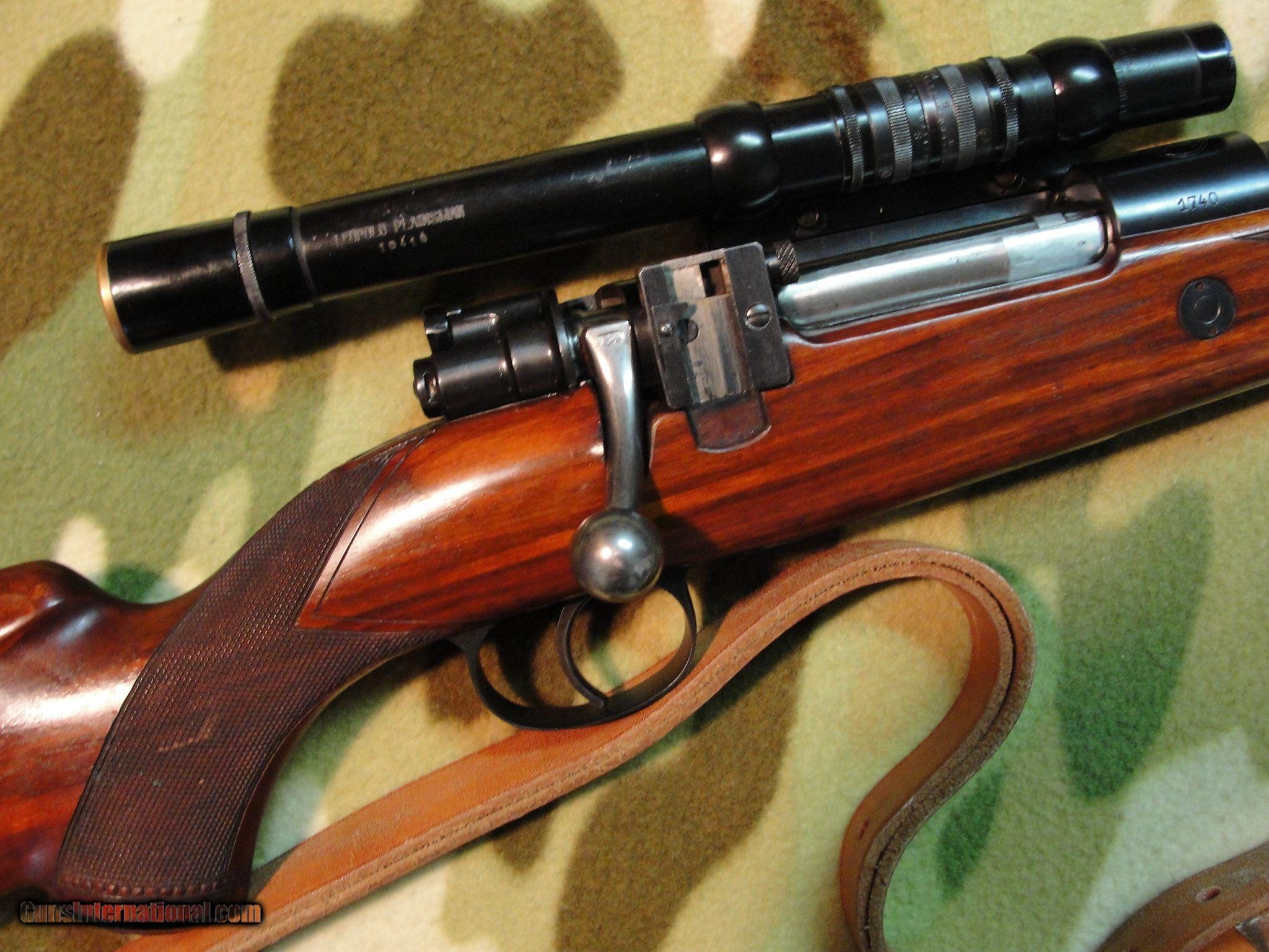 belgian fn mauser 98 deluxe 30 06 g h mount scoped