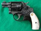 S&W M&P Pre War Snubby 38, Engraved, CA OK