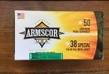 ARMSCOR 38 SPECIAL 50 ROUND BOX
