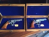 """Smith and Wesson """"VIRGINIA STATE POLICE 50TH ANNIVERSARY COMMEMORATIVE Model 66-1 .357 magnum caliberPAIROFREVOLVERS"""