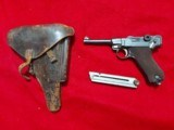 WWI 1915 DWM German Luger pistol All matching Serial numbers 9mm with holster - 1 of 10