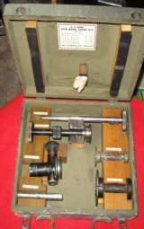 US ARMY GUN BORE SIGHT KIT TYPE J-2 BELL & HOWELL 1943 - 1 of 10