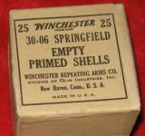 VINTAGE WINCHESTER 30-06 UNFIRED PRIMED