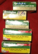 65 ROUNDS + 33 ONCE FIRED BRASS 7MM REMINGTON ULTRA MAG