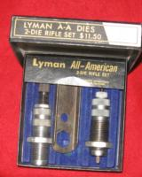 LYMAN ALL AMERICAN 222 REMINGTON DIE SET