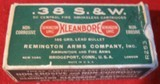 50 ROUND REMINGTON DOGBONE BOX OF 38 S&W AMMO