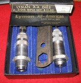 LYMAN ALL AMERICAN 2 DIE RIFLE SET 222 REMINGTON