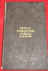 """1851 ACCOUNTANT'S PRIMER """"BROOKS AVERAGE TIME TABLES"""" - 1 of 3"""