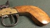 Brass Cannon Barrel Belgium Percussion Pistol c. 1850 - 3 of 5
