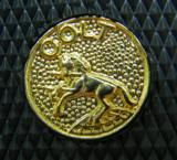 Colt Pachmayr 'Gripper' Style Rubber Grips For Colt PythonWith Gold Full Body Horse Medallions'NEW' - 3 of 3