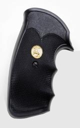 Colt Pachmayr 'Gripper' Style Rubber Grips For Colt PythonWith Gold Full Body Horse Medallions'NEW'