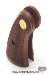 New Colt Python I-Frame Service Grips With Gold Medallions - 2 of 3