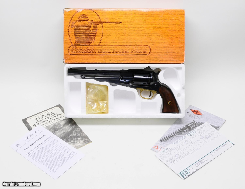 Pietta 1858 Remington Steel Frame Black Powder Revolver 44 Caliber 8