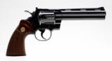 Colt Python 357 Mag 6 Inch Blue. DOM 1981. Like New. No Box - 2 of 8
