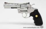 Colt Python .357 Mag. 4 inch. Bright Stainless Finish. Like New In Blue Case. - 6 of 8
