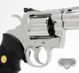 Colt Python .357 Mag. 4 inch. Bright Stainless Finish. Like New In Blue Case. - 4 of 8