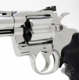 Colt Python .357 Mag. 4 inch. Bright Stainless Finish. Like New In Blue Case. - 8 of 8