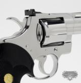 Colt Python .357 Mag. 4 inch. Bright Stainless Finish. Like New In Blue Case. - 5 of 8