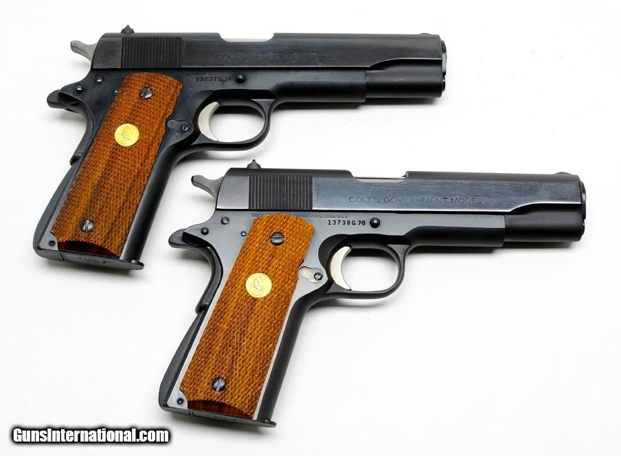 Pair Of Colt 1911 Government MK IV/ Series 70  45 ACP Pistols