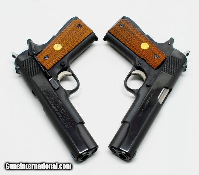 Pair Of Colt 1911 Government MK IV/ Series 70  45 ACP