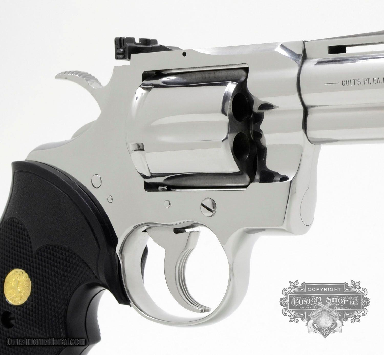 Colt Python  357 Mag  4 inch  Bright Stainless Finish  Like New In