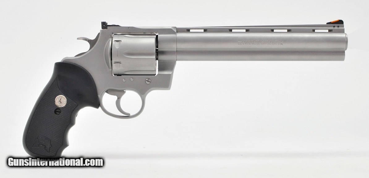 Colt Anaconda 44 Mag  8 Inch Satin Stainless  Like New In