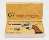 Colt Single Action Army Frontier Scout. 22LR & Extra 22 Mag.Cylinder.Nickel.In factory Box. DOM 1968