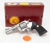 Colt Python 357 Mag. 4 Inch Satin Stainless Steel. Like New In Red Picture Box. DOM 1987
