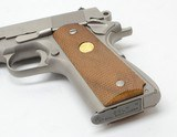 Colt Mark IV Series 80 Combat Commander 9mm 4 1/4 Inch Satin Nickel Finish. Like New In Box - 4 of 5