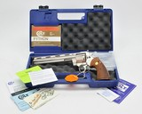 Colt Python 357 Mag. 8 Inch Nickel. Excellent Condition In Blue Hard