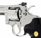 Colt Python .357 Mag. 4 inch. Bright Stainless Finish. Like New In Blue Case. - 7 of 8