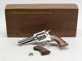 United Sporting Arms Seville .45 Colt 4 5/8 Inch Brushed Stainless. With Custom AAA English Walnut Grips