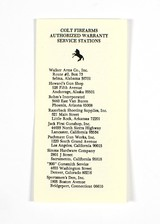 Colt Python Manual, Repair Stations List, 2 Colt Letters. 1955-1977 - 4 of 7