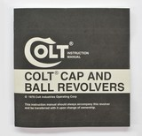 Colt Cap And Ball Revolvers Manual, Repair Stations List And Colt Letter. 1978. - 2 of 5